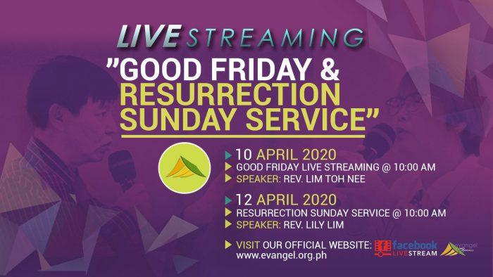 Live Streaming… Good Friday & Resurrection Sunday Service